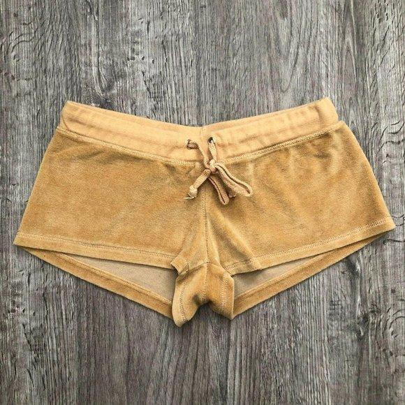 Vintage Y2K Charlotte Russe Camel Velour Shorts